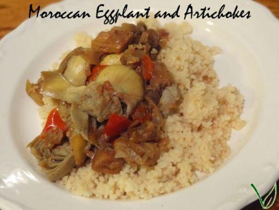 Moroccan Eggplant and Artichokes | A Vegan in Progress
